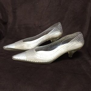 Vintage Gently Used Jelly Shoe Heels
